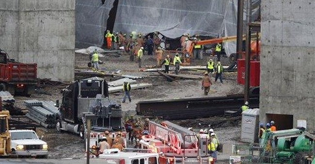 Crews try to stabilize Ohio casino collapse site
