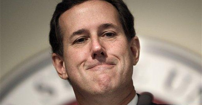 Tired and broke, Santorum heads home to do taxes