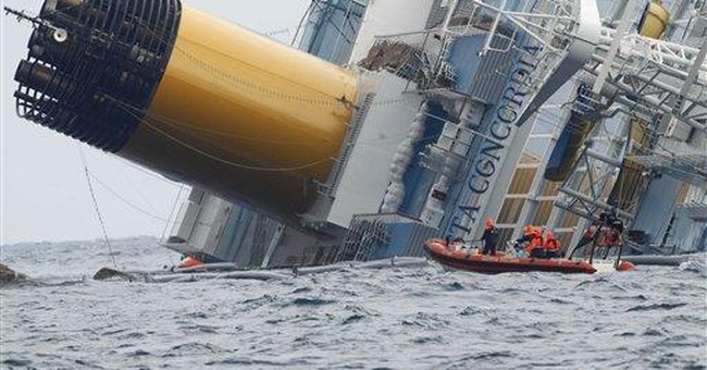 Up to 10 months to remove capsized cruise ship