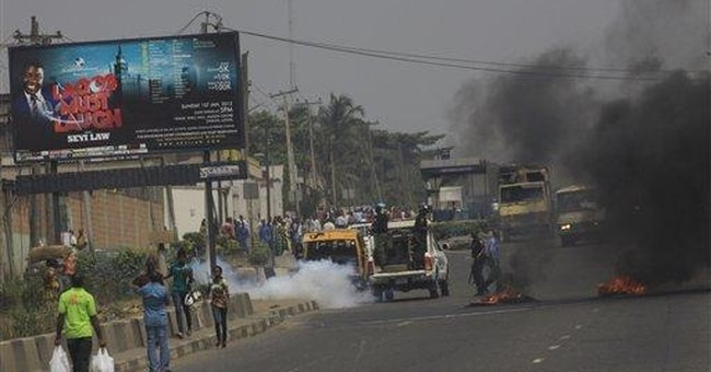 Nigeria gas price protest turns violent in Lagos