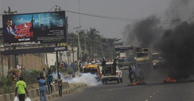 Nigeria gas price protest turns violent in Lagos