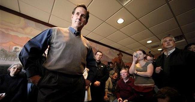 Beyond Iowa, Santorum faces a daunting challenge
