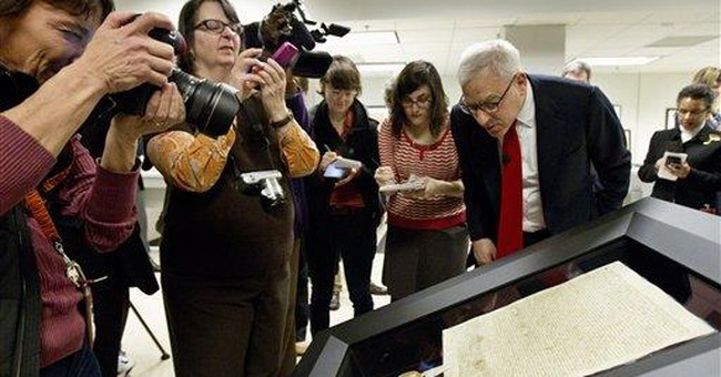 US Archives unveils Magna Carta after repairs