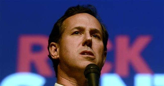 Santorum warns voters of country's likely demise