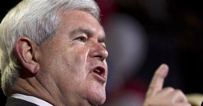 Gingrich hoping to beat Paul for 2nd place in Nev.
