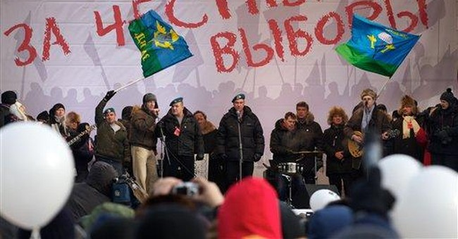 Russia's unlikely protest song rocks rally