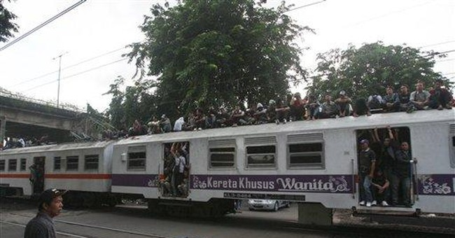 Indonesia to hit train roof riders with nasty goop