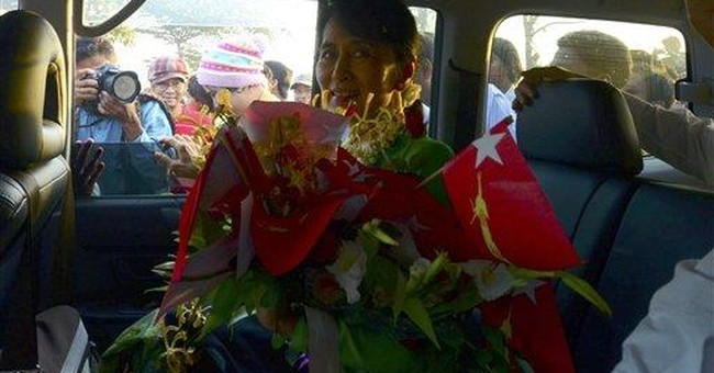 Suu Kyi hits the campaign trail in Myanmar