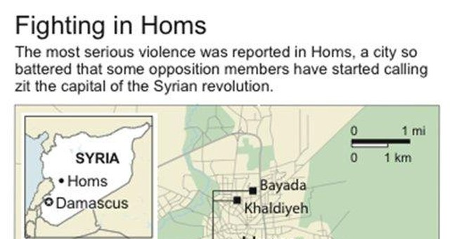 City of Homs becomes focus of Syria's uprising