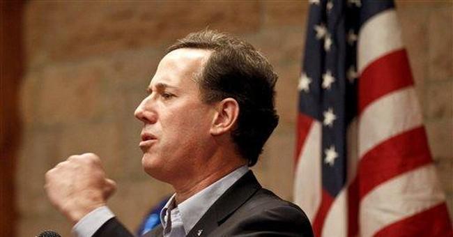 Santorum wins in 3 states as Romney stalls