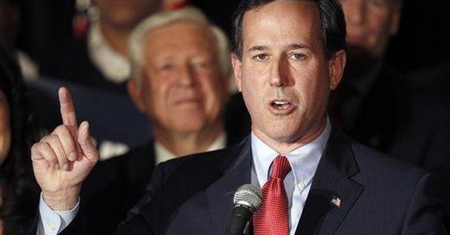 Santorum labels Romney 'well-oiled weather vane'