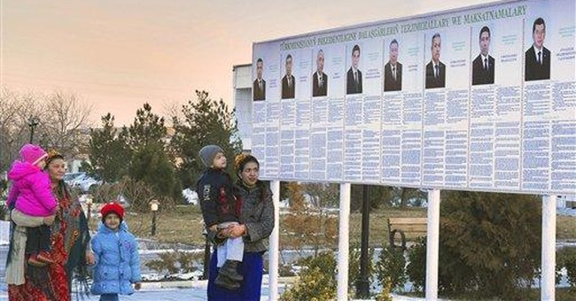 Turkmens to vote in one-horse race