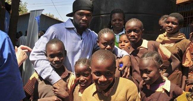50 Cent visits famine victims in Somalia, Kenya