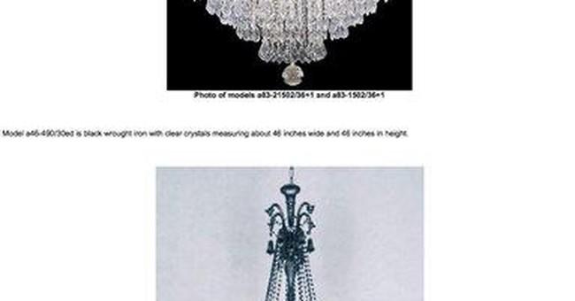 Week's recalls: chandeliers, coffee makers, lamps