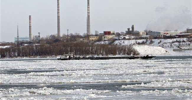 Frozen Danube river is costing shippers millions