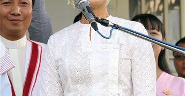 Aung San Suu Kyi campaigns for Myanmar parliament