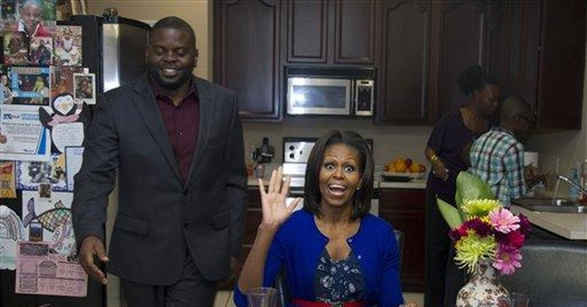 First lady's trips boost health _ and her husband