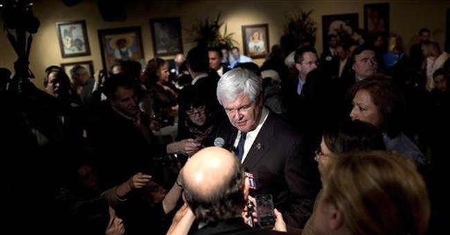 Gingrich says he's in the race to stay
