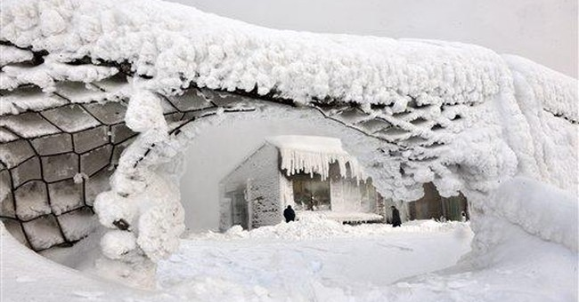 Snow, ice coat the Balkans with unworldly beauty