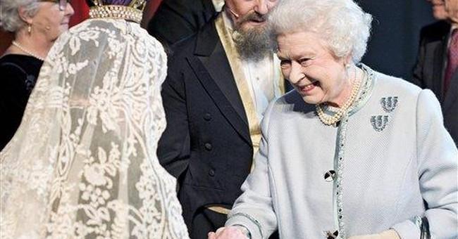 Stars join Queen Elizabeth II to celebrate Dickens