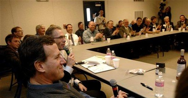 Santorum searches for own gusher in oil country