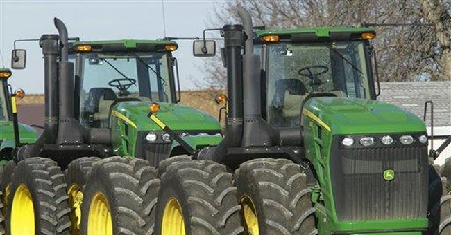Deere says 1Q profit up 4 percent on strong sales