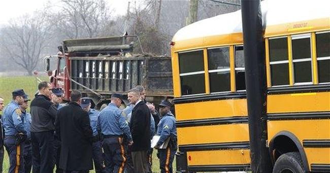 NJ trooper's triplets in bus crash: 1 dead, 2 hurt