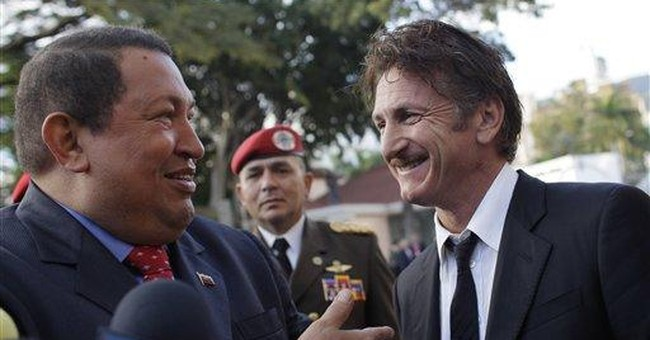 Sean Penn meets with Chavez, criticizes US right
