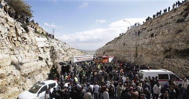 6 Palestinians killed in school bus crash