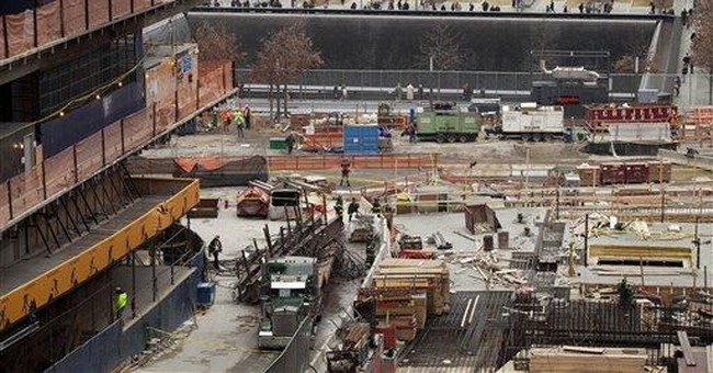 Crane drops steel 40 stories at Trade Center site
