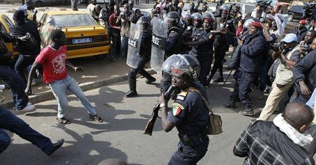 2 rappers arrested at Senegal opposition protest