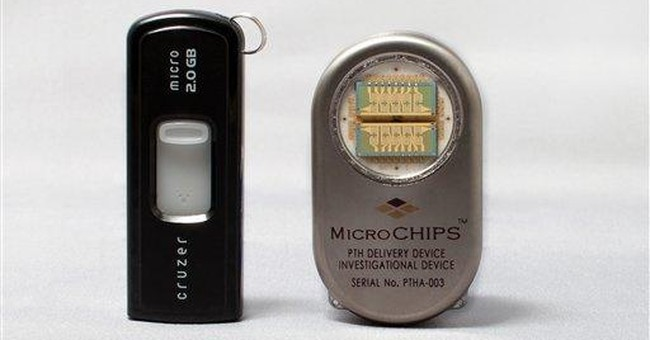 Remote-controlled chip implant delivers bone drug