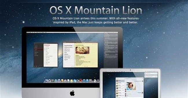 Apple previews Mac OS update, Mountain Lion