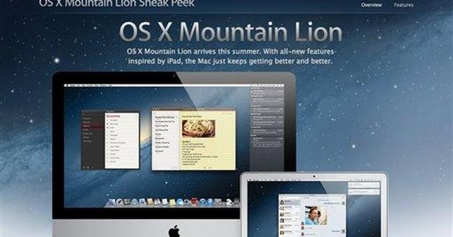 Apple previews Mac OS update, Mountain Lion