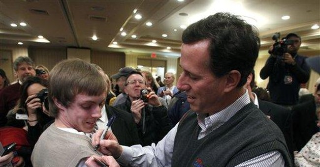 Mich. voters: Santorum connects better than Romney