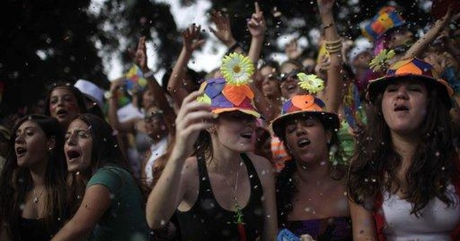 Rio Carnival revelers twist, shout to Beatles