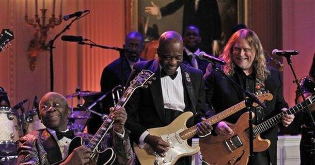 Obama joins Jagger, B.B. King, to belt out blues