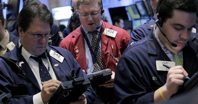 Stocks lower a day after Dow's blip above 13,000