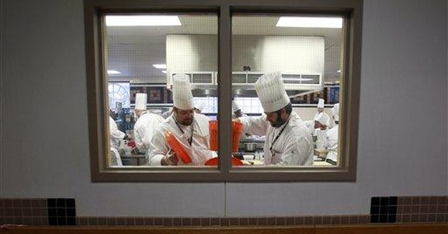 Wounded vets regain bit of camaraderie in kitchen