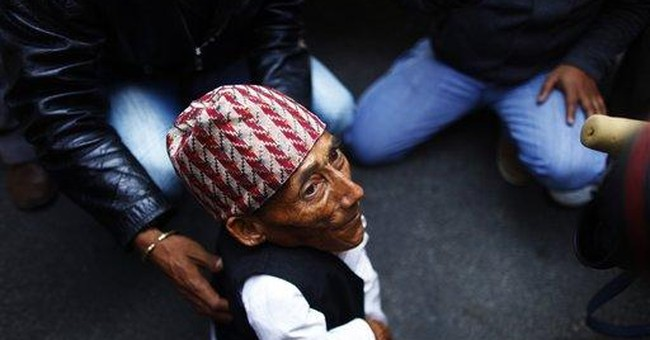 Nepalese man, 72, claims to be world's shortest