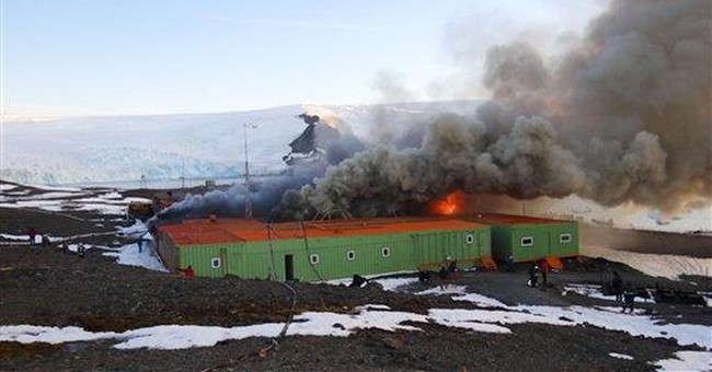 Fire at Brazil's Antarctic base kills 2, injures 1