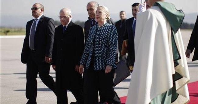 In Tunisia, Clinton cites promise of Arab Spring