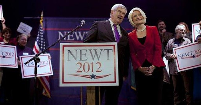Gingrich pins campaign on a cluster of contests