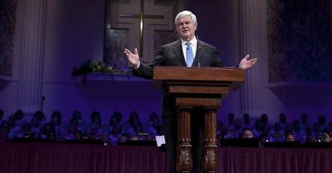 """Gingrich warns of role of """"secular left"""""""