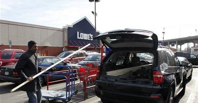 Mild winter warms Lowe's 4Q profit