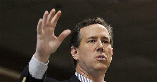 Are Santorum's comments on higher ed out of step?