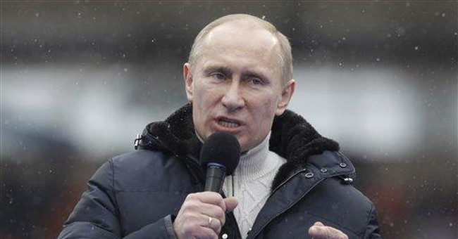 Russia PM Putin says doesn't fear enemies