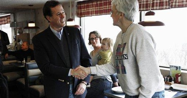 Santorum claims partial victory in wounding Romney