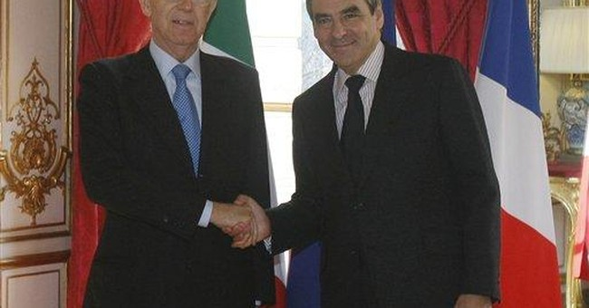 France, Italy present united front before crisis
