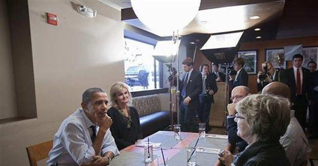 Obama lunches with campaign contest winners